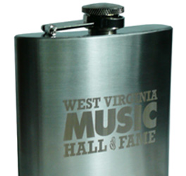 West Virginia Music Hall of Fame Flask